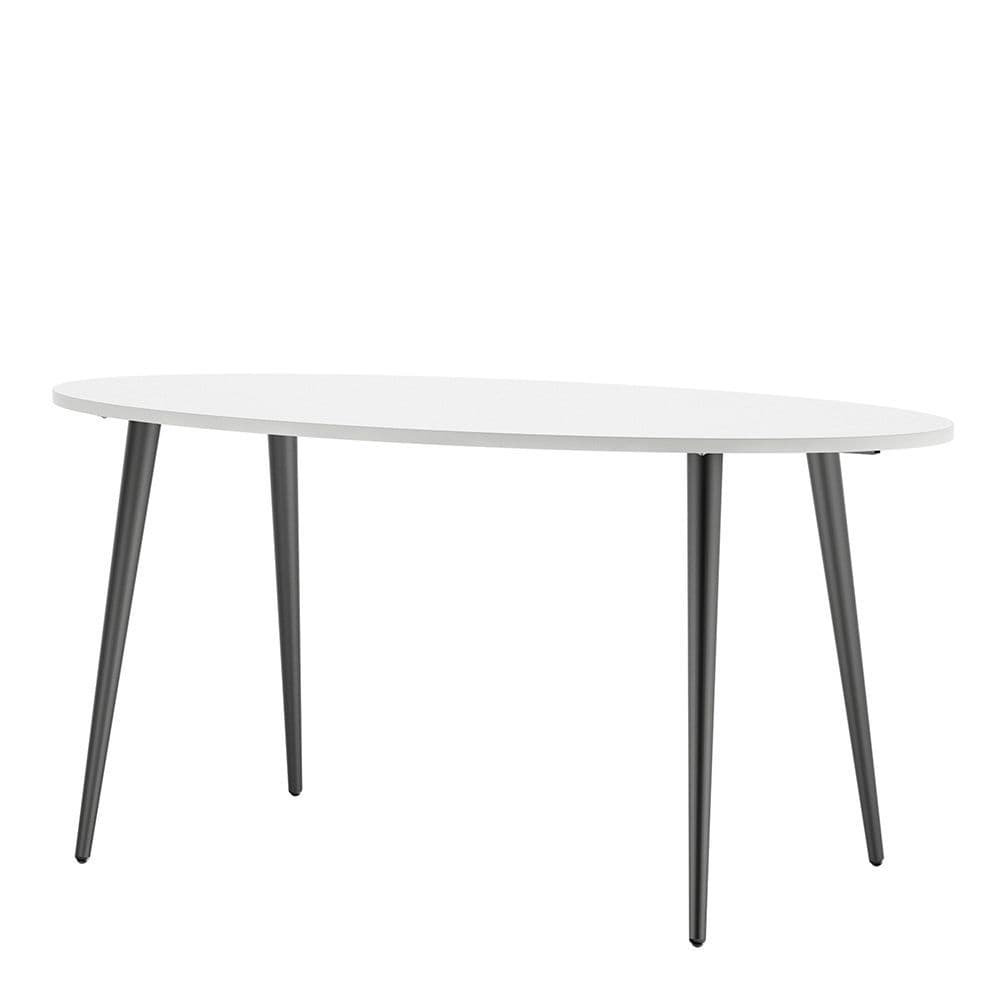 Freja Dining Table - Large (160cm) in White and Black Matte